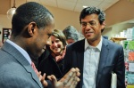 Newton mayor Setti Warren and author Atul Gawande