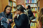 Patrons at the Newtonville Books grand opening